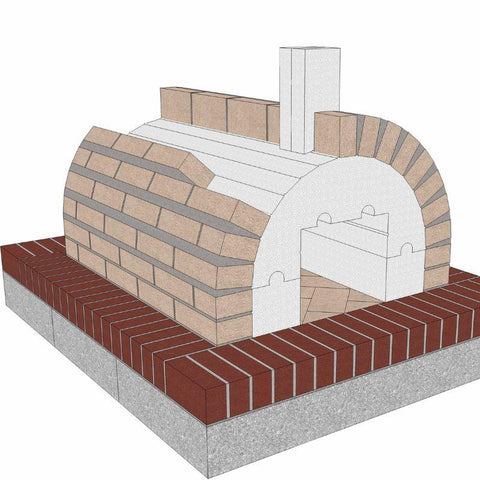 Image of Brickwood Pizza Oven Kit Mattone Barile Form