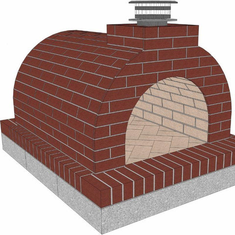 Brickwood Pizza Oven Kit Mattone Barile Form