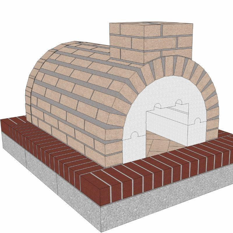 Brickwood Pizza Oven Kit Mattone Barile Grande Package 1