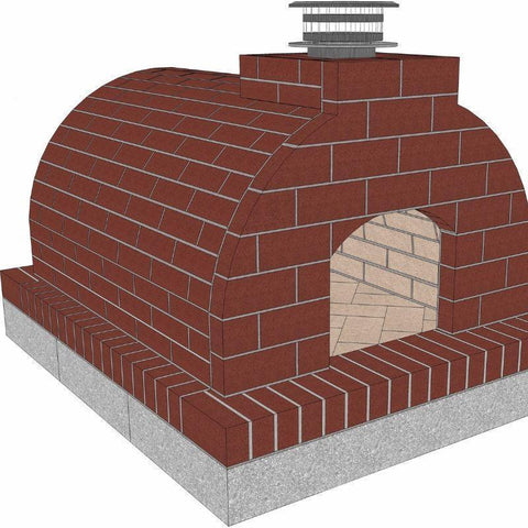 Brickwood Pizza Oven Kit Mattone Barile Grande Package 3