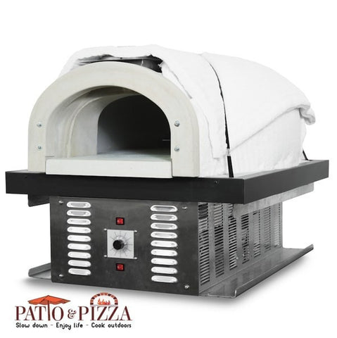 CBO-750 Hybrid Gas and Wood Burning Oven Side