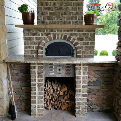 Image of CBO-750 Hybrid Gas and Wood Fired Oven Installed