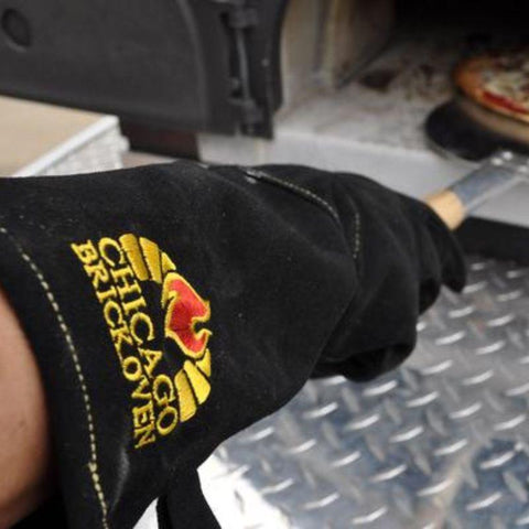 heat and fire resistant Oven Gloves  Leather and Kevlar Stitching