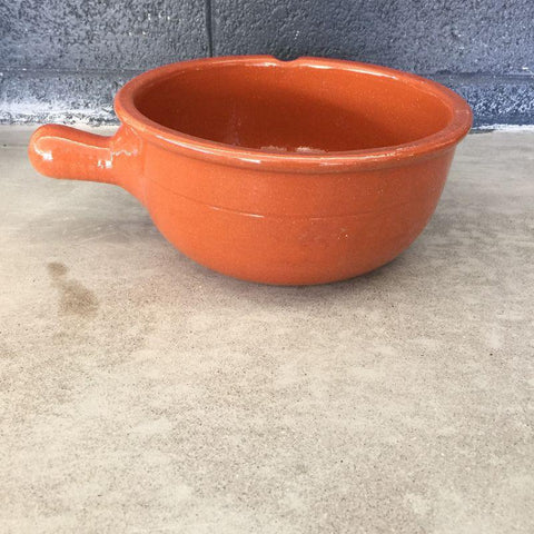 Image of Portuguese Ceramic Deep Bowl with Handle