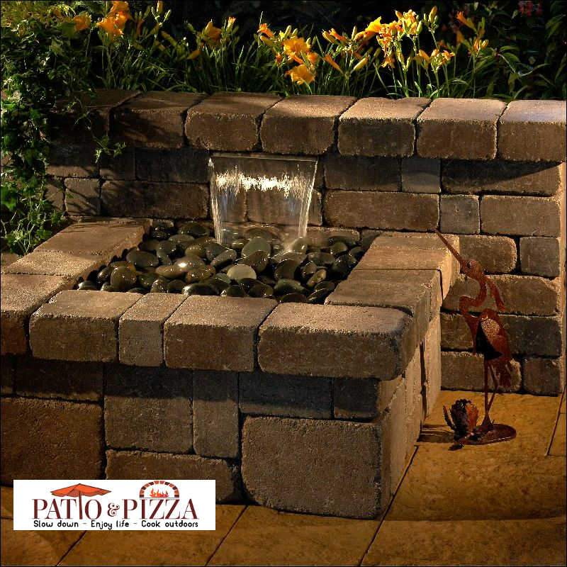 Outdoor Living Patio Kits Necessories Compact Waterfall