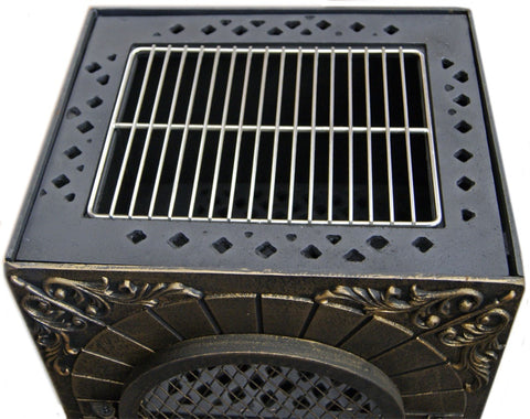 Image of Deeco Aztec Allure Cast Iron Chiminea Pizza Oven DM‑0039‑IA‑C - Patio & Pizza - 3