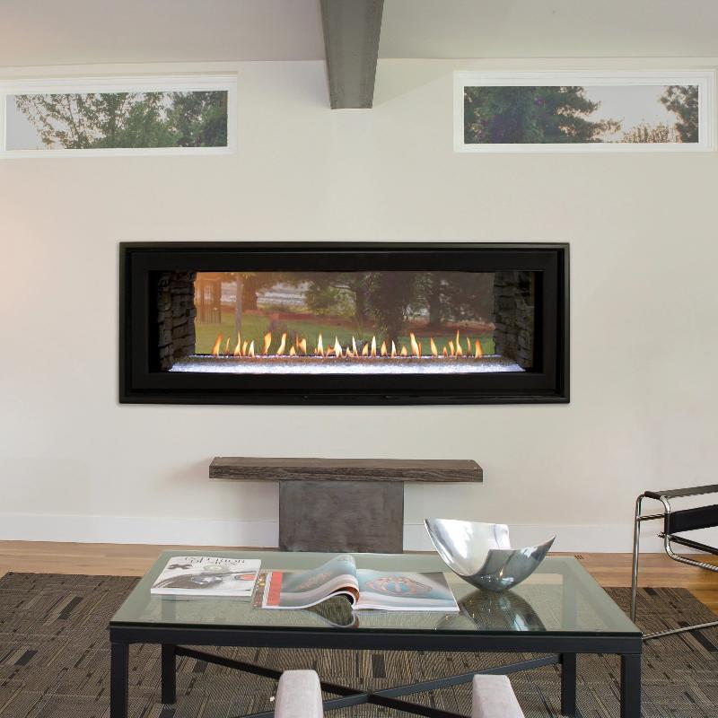 Empire Boulevard Linear Direct-Vent Fireplaces See-Through 48""