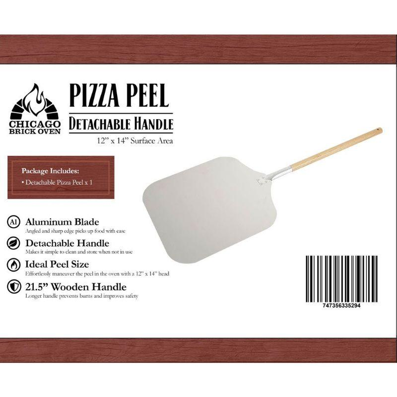 Aluminum Pizza Peel with Wooden Handle CBO
