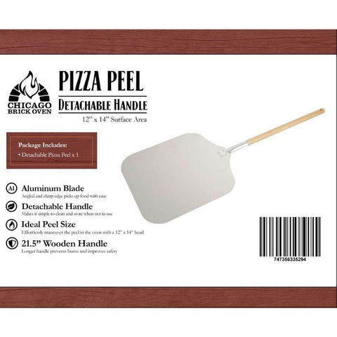Image of Aluminum Pizza Peel with Wooden Handle CBO