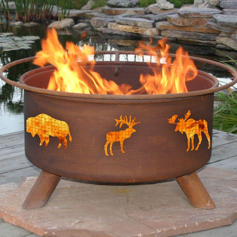 Fire Pit: Wildlife By Patina Products F106 Accessories Included
