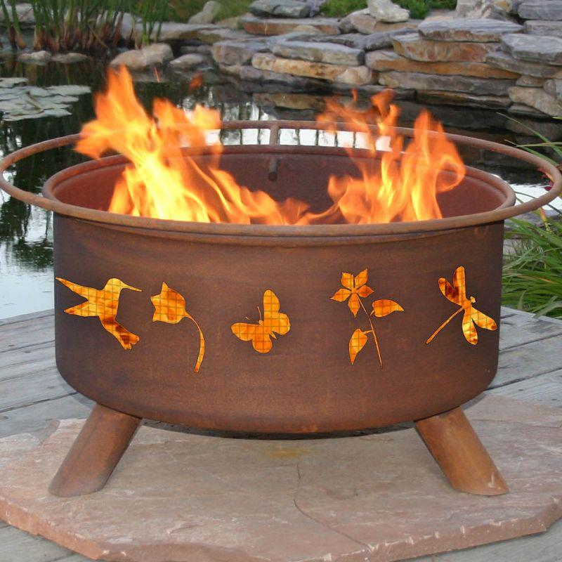 Fire Pit: Flower & Garden By Patina Products Accessories Included