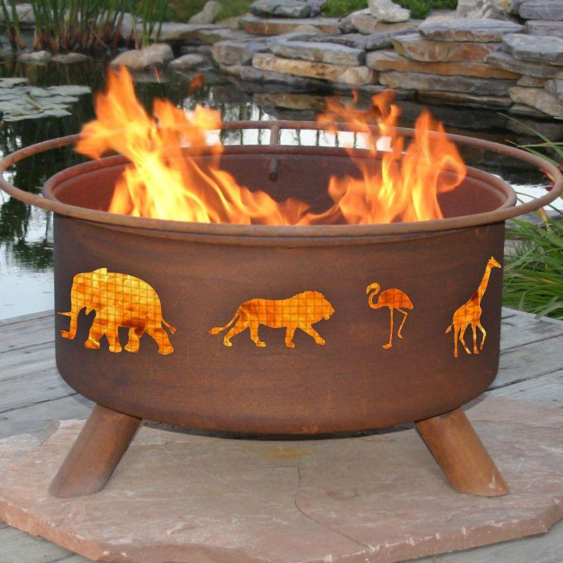 Fire Pit: Safari By Patina Products F113 Accessories Included