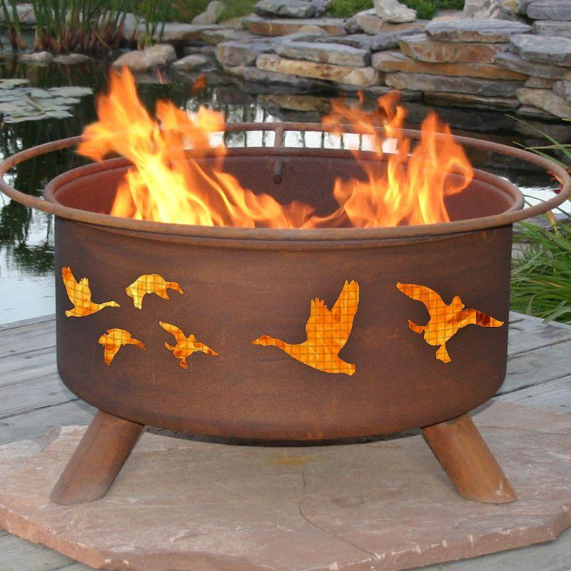 Fire Pit: Wild Ducks By Patina Products Accessories Included