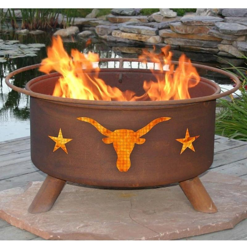 Fire Pit: Texas Longhorn By Patina Products Accessories Included