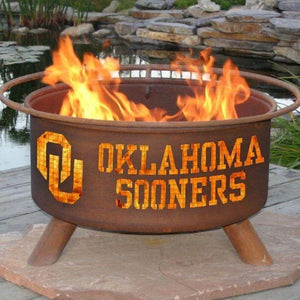 Fire Pit: Oklahoma State By Patina Products: Accessories Included