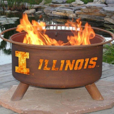 Fire Pit: U of Illinois By Patina Products: Accessories Included
