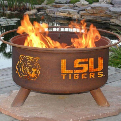 Fire Pit: LSU By Patina Products: Accessories Included