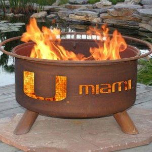 Fire Pit: U of Miami By Patina Products: Accessories Included