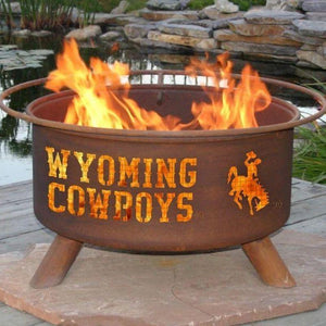 Fire Pit: U of Wyoming By Patina Products: Accessories Included