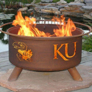 Fire Pit: U of Kansas By Patina Products: Accessories Included
