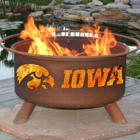 Fire Pit: U of Iowa By Patina Products: Accessories Included