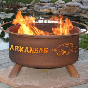 Fire Pit: U of Arkansas By Patina Products: Accessories Included