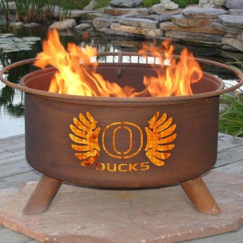 Fire Pit: U of Oregon By Patina Products: Accessories Included