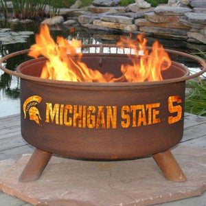 Fire Pit: Michigan State By Patina Products: Accessories Included