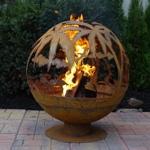 Esschert Design's Tropical Fire Sphere