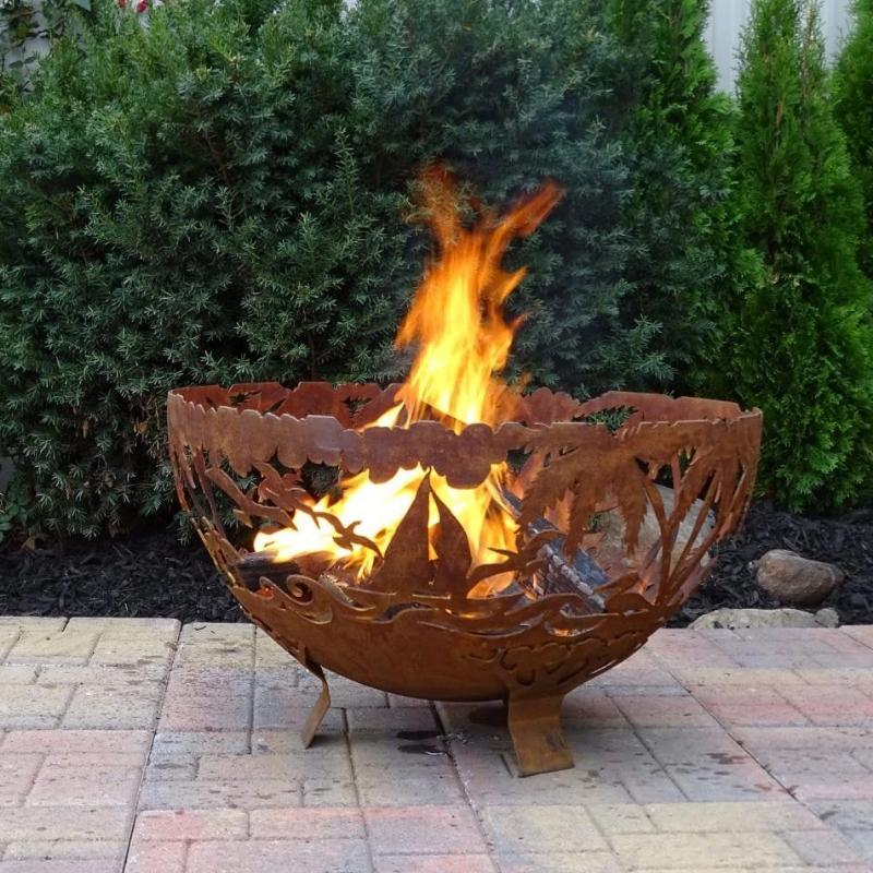 Fire Bowl Esschert Deisgn's Laser Cut: Tropical Bowl