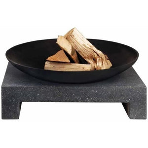 Esschert Design Fire Bowl/Cast & Granito Table Base Rectangular