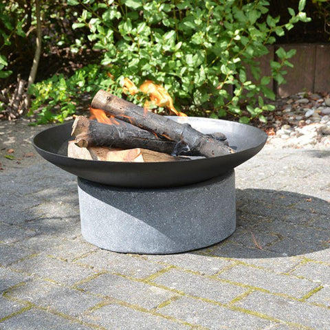 Image of Fire Bowl/Cast & Granito Ring Base-Esschert Design