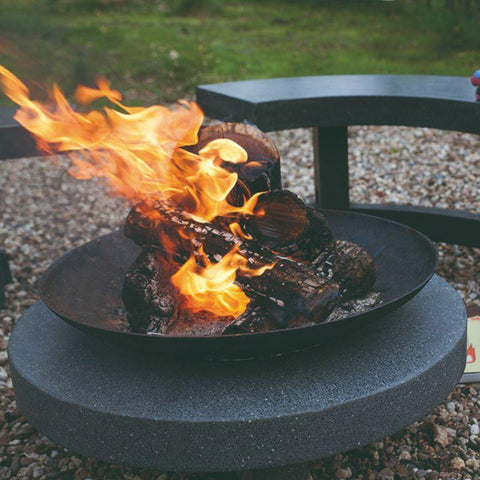 Image of Esschert Design Fire Bowl/Cast & Round Granito Base