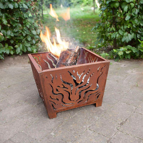Image of Esschert Design Fire Basket w/ Flame Design
