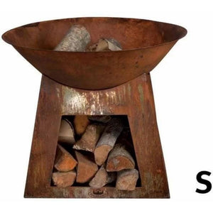 Small Fire Bowl w/ Wood Storage-Esschert Design