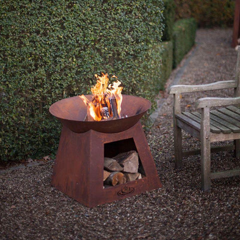 Fire Bowl w/ Wood Storage
