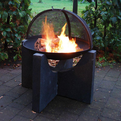 Image of Fire Bowl w/ Tall Granito Stand