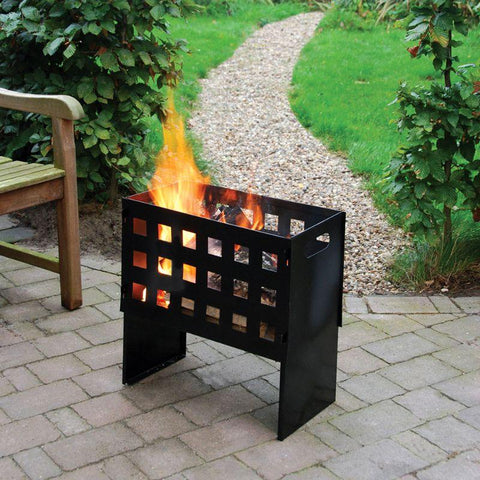Image of Esschert Design Rectangular Fire Basket