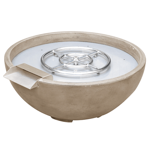 "Image of True Flame 30"" Fire and Water Bowl - Brown"