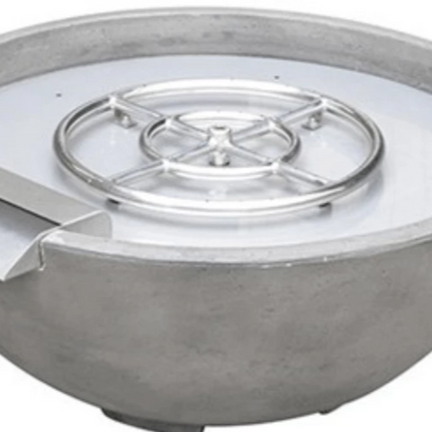 "True Flame 30"" Fire and Water Bowl - Grey"