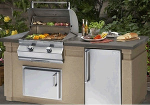 AOG 430 6' Complete Grill Island System - AOG-DC430-CBR-75SM