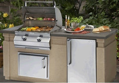 Image of AOG 430 6' Complete Grill Island System - AOG-DC430-CBR-75SM