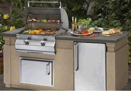 Image of Fire Magic 430 6' Complete Grill Island System - DC430-CBR-75SM