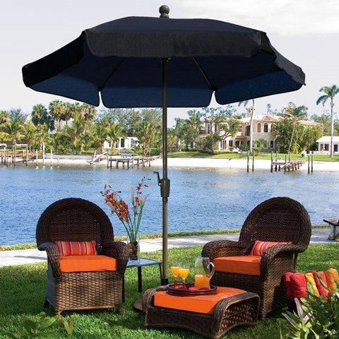 Image of Fiberbuilt Patio Umbrella Home Collection Garden 7.5 Ft Tilt
