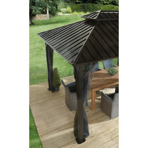Sojag Hard Top Gazebo with Double Steel Roof