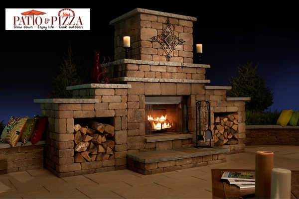 Outdoor Fireplace Kit Rockwood Necessories Grand Fireplace