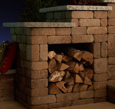 Grand Fireplace Woodbox