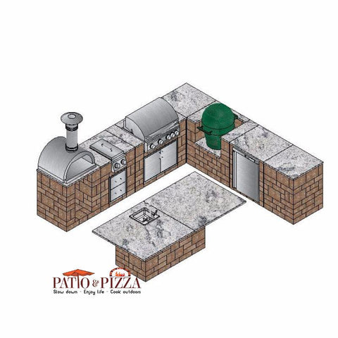 Necessories Kitchen Island Cabinet Kit Desert