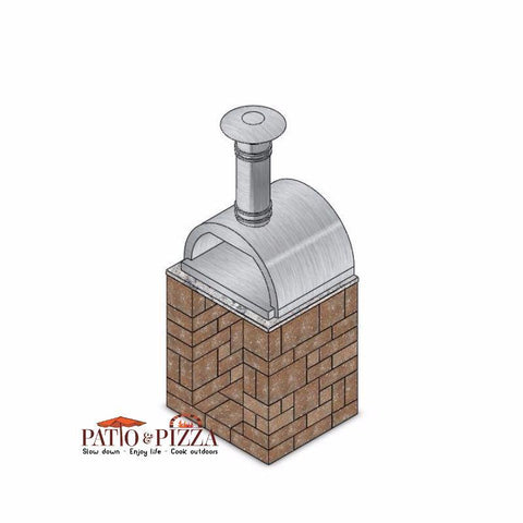 Image of Necessories Kitchen Woodbox Cabinet Kit with Wood-Fired Oven