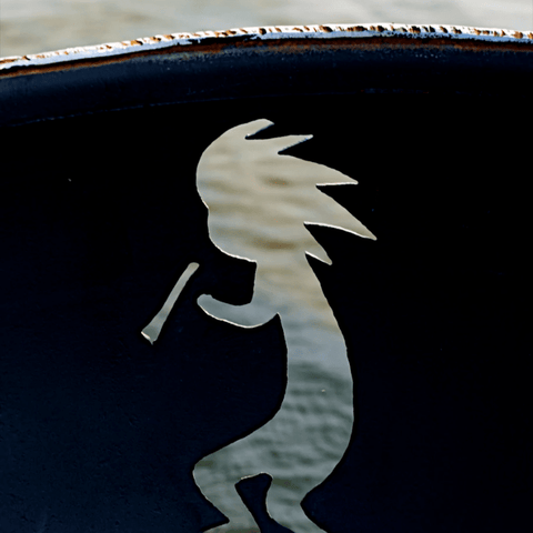 Image of Fire Pit Art- Kokopelli